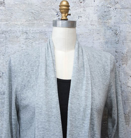 Nally and Millie 3/4 Sleeve Cardigan in Grey