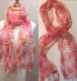 LULI BOUTIQUE Pink Silk Scarf