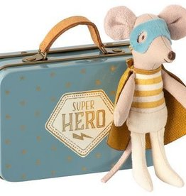 Maileg Mouse Super Hero in Suitcase