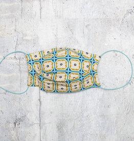 Kreatelier Face Mask Blue Green Mosaic