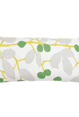 Kreatelier Vine Pillow in Gray and Green 10 x 20in