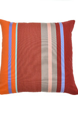 Kreatelier Summer Stripes Pillow in Red and Orange 18 x 18in