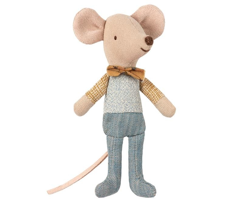 Maileg Mouse Little Brother Bow Tie in Box