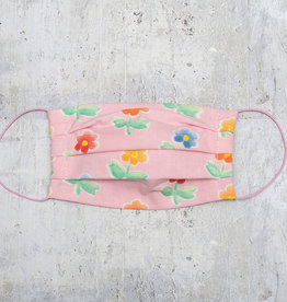 Kreatelier Big Children Face Mask Pink Flowers