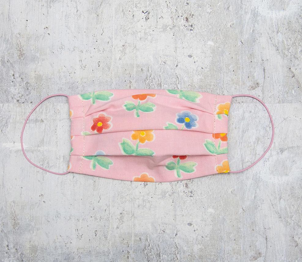 Kreatelier Big Children Face Mask Pink Flowers