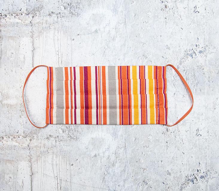 Kreatelier Big Children Face Mask Orange Stripe