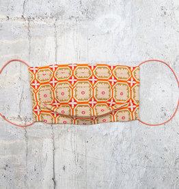 Kreatelier Face Mask Orange and Olive Mosaic
