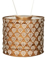 Allsop Home and Garden Solar Lantern Stella Drum Copper  8""