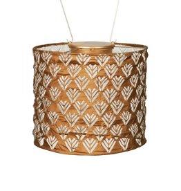 """Allsop Home and Garden Solar Lantern Stella Drum Copper  8"""""""