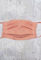Kreatelier Big Children Face Mask Orange and White Stripes