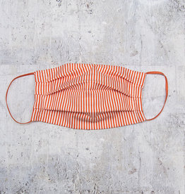Kreatelier Big Children Face Mask Orange and White Stripes
