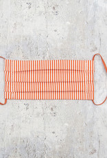 Kreatelier Small Children Face Mask Orange and White Stripes