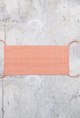 Kreatelier Face Mask Orange and White Stripes