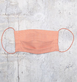 Kreatelier Face Mask Orange and White Stripes