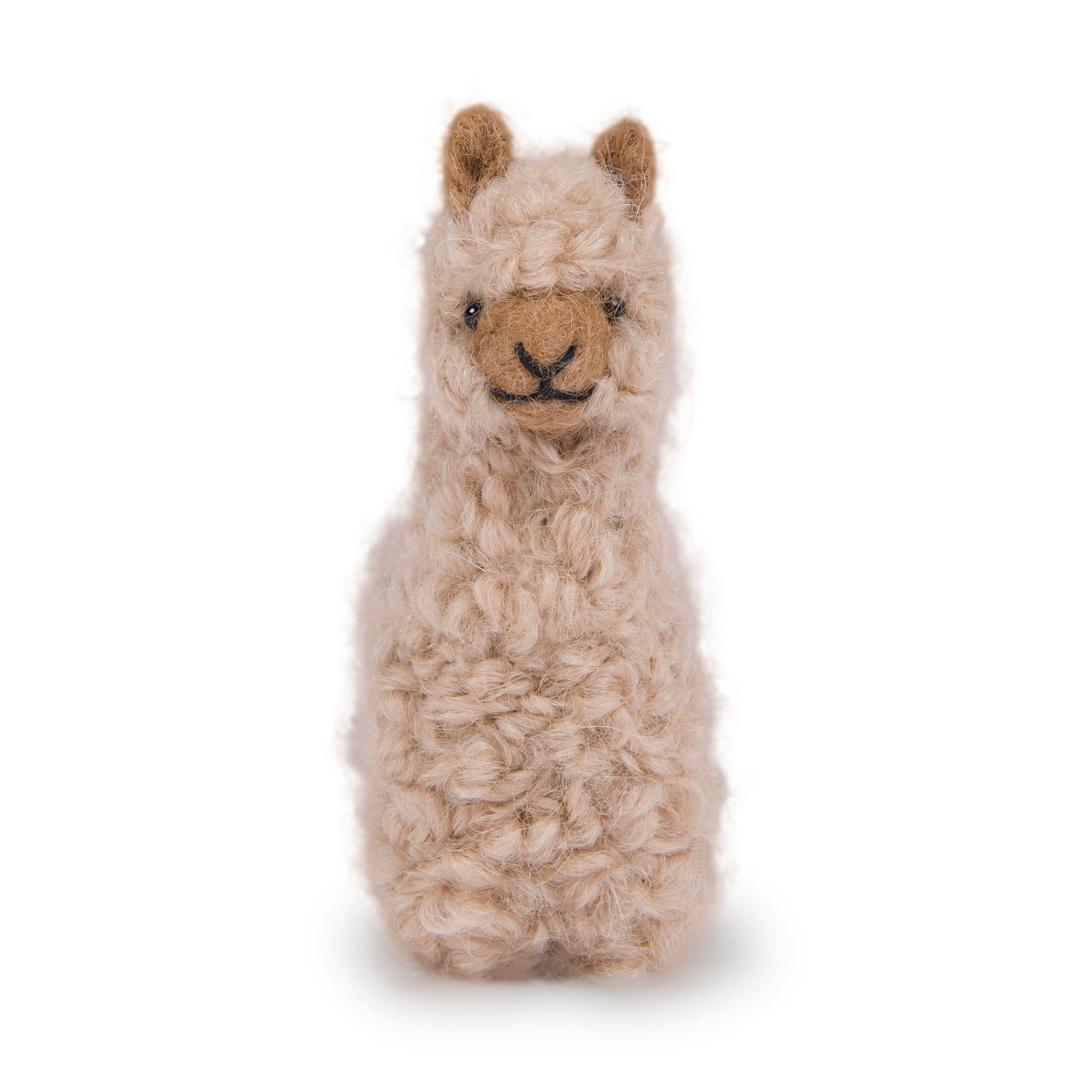 """Pokoloko Needle Felted Alpaca 3.5"""" Beige"""