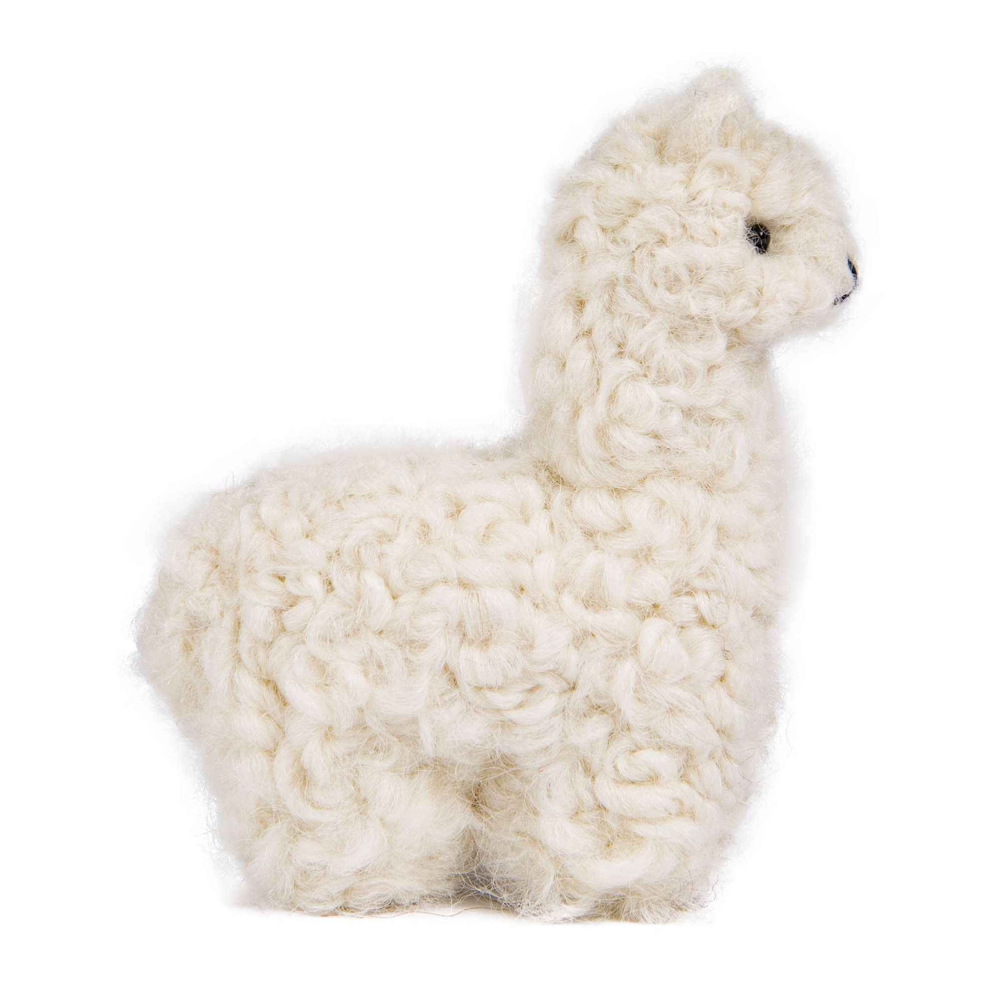 "Pokoloko Needle Felted Alpaca 3.5"" White"