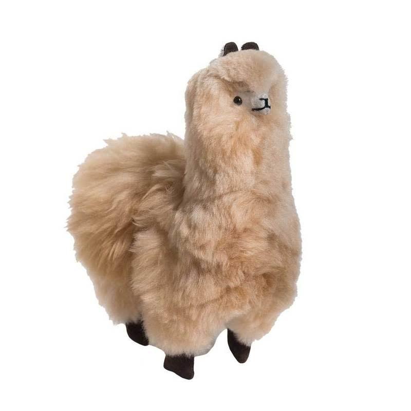 "Pokoloko Stuffed Standing Alpaca Beige 8.5"""