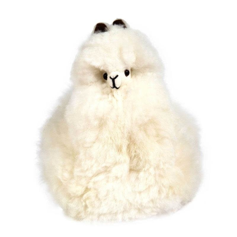 Pokoloko Stuffed Sitting Alpaca in White