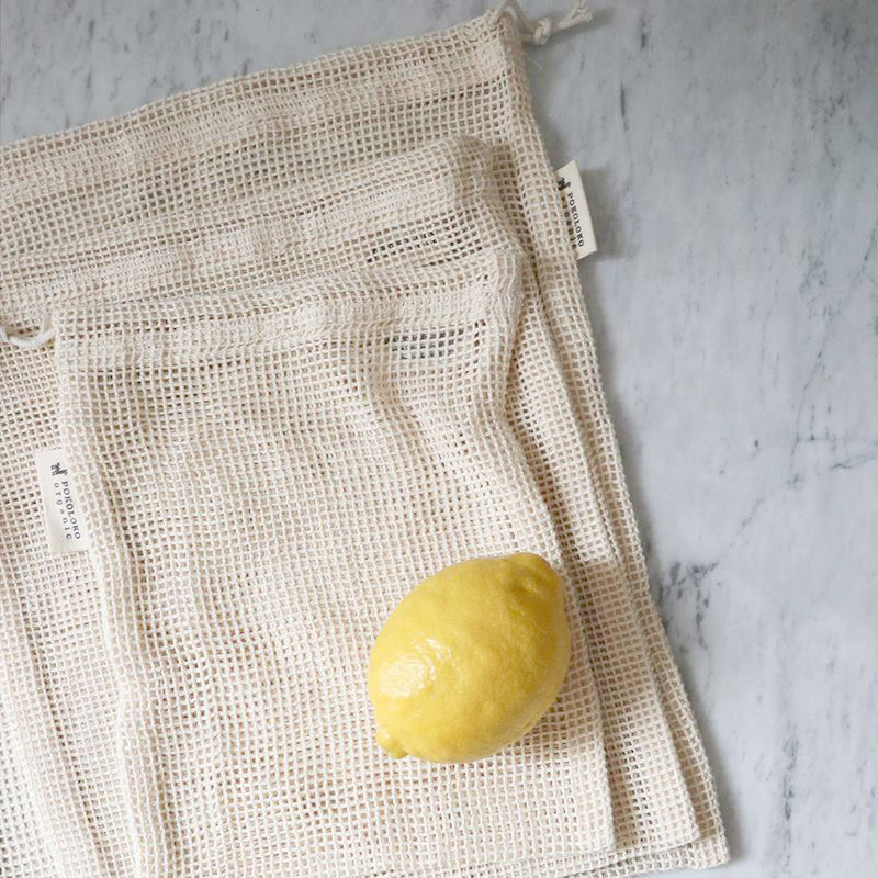 Pokoloko Organic Mesh Eco Bag Variety Pack of 4 Natural
