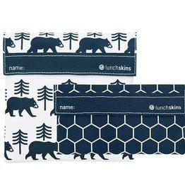3greenmoms 2-Pack Reusable Bag Set Bear Charcoal (Velcro)