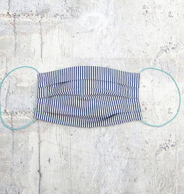 Kreatelier Face Mask Blue and White Stripes