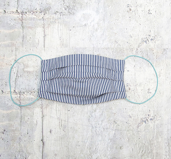Kreatelier Face Mask Blue and White Stripes