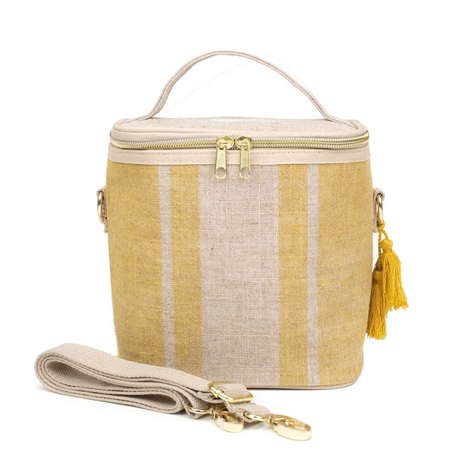 So Young Small Cooler Bag Poche Mustard Stripe