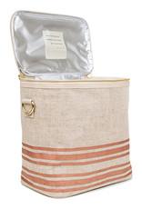 So Young Large Cooler Bag Linen Rose Gold Stripe