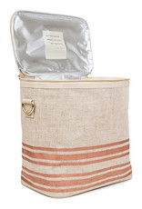 So Young Large Cooler Bag Poche Rose Gold Stripe