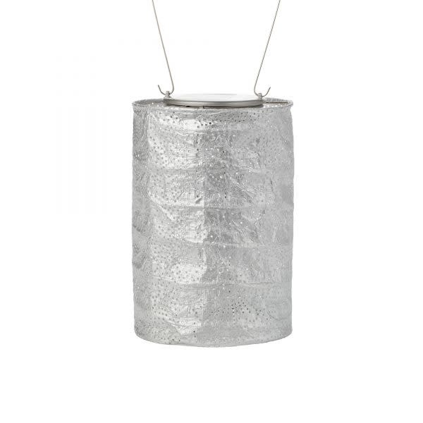 "Allsop Home and Garden Solar Lantern Cylinder Silver 7.5"""