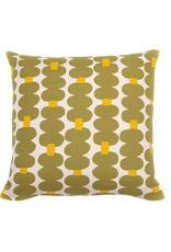 Kreatelier Mod Pillow in Olive Green 16 x 16in