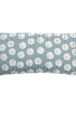 Kreatelier Embroidered Dot Pillow in Blue 20 x 10in