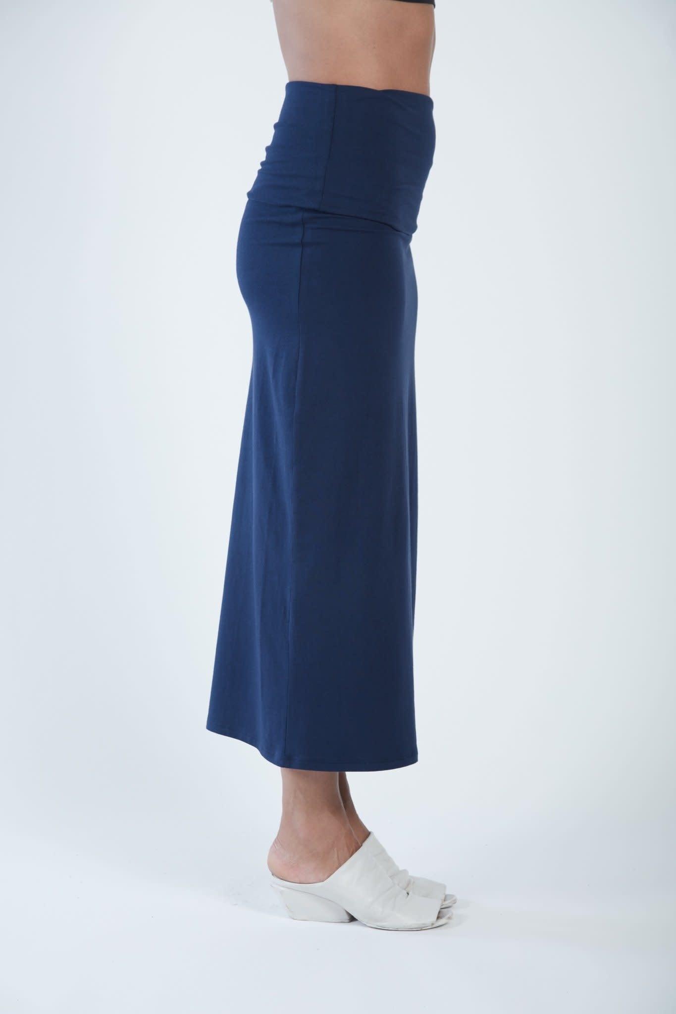Matthildur Fitted Skirt Navy