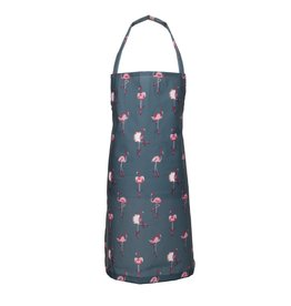 Sophie Allport Child Apron Flamingos in Navy