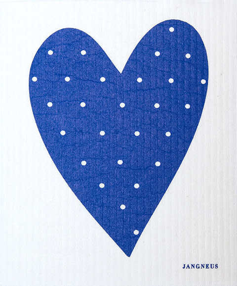 Esthetic Living Swedish Dishcloth Heart Blue