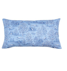 Kreatelier Toile Pillow in Blue 10 x 18in