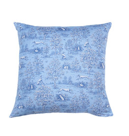 Kreatelier Toile Pillow in Blue 16 x 16in