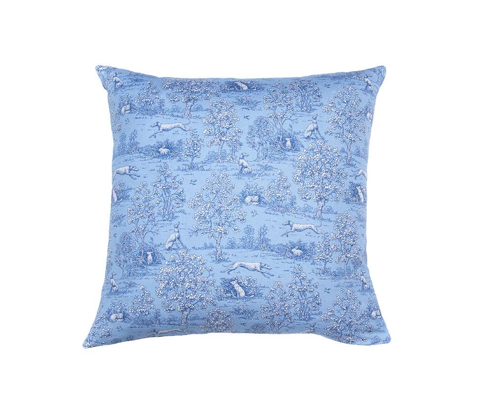 Kreatelier Toile Pillow in Blue 16 x 16in