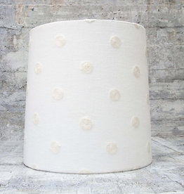 Kreatelier Lamp shade Tapered Embroidered Polka Dots in White