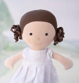 Hazel Village Doll Louise in Snowy White Linen Dress