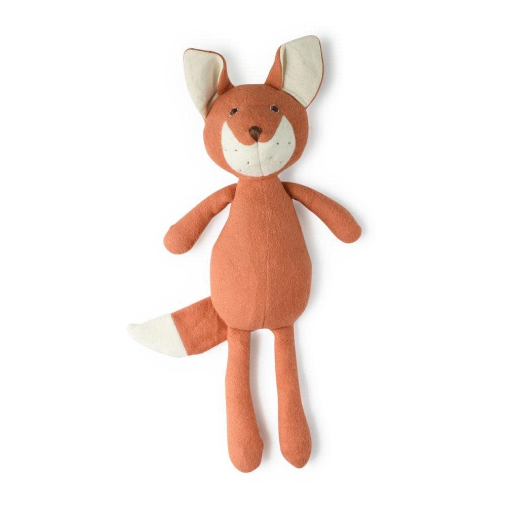 Hazel Village Stuffed Animal Reginald Fox in Leaf Cover Romper