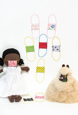 Kreatelier Face Mask for Dolls Polka Dots