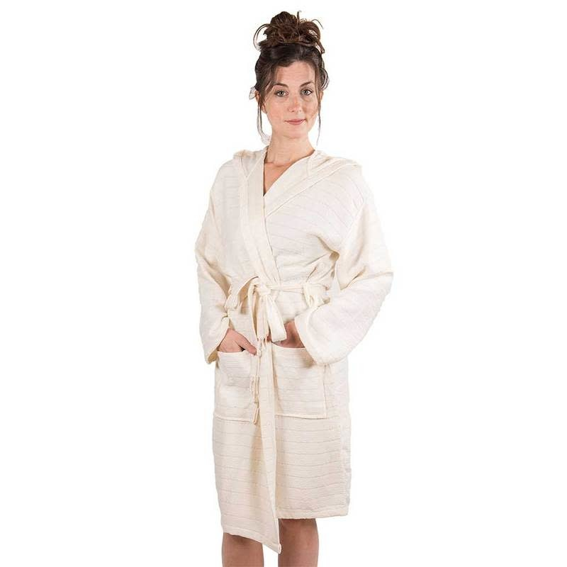 Pokoloko Bamboo Bath Robe Cream