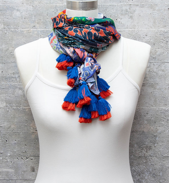 Tolani Scarf Collage Patch