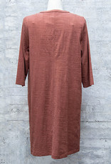 Q-Neel Dress with Pocket in Clay