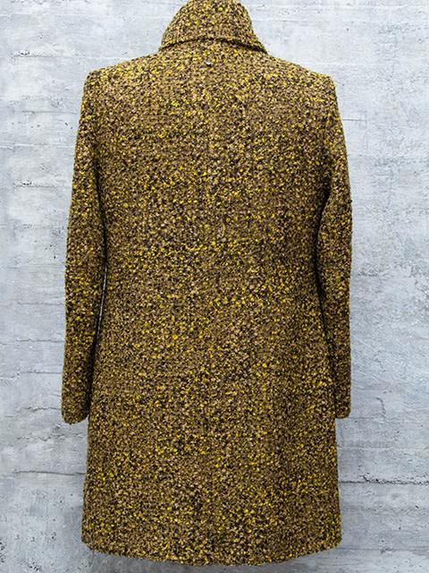 Q-Neel Boucle Coat Mustard