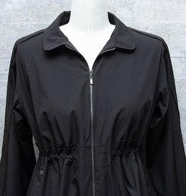 Patrizia Luca Drawstring Coat Black