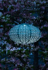 "Allsop Home and Garden Solar Lantern Soji Oval Mineral Green 14"" X 8"""