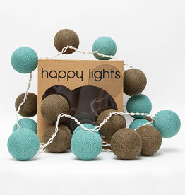 Happy Lights Happy Lights Box Turquoise and Brown