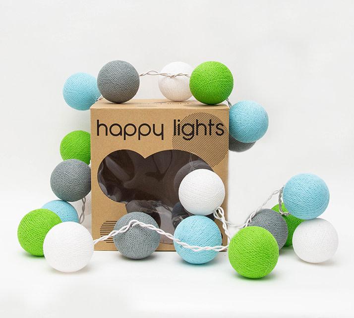 Happy Lights Happy Lights Box Green, Blue, Grey